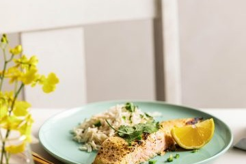 Baked Huon Salmon in Spiced Yoghurt