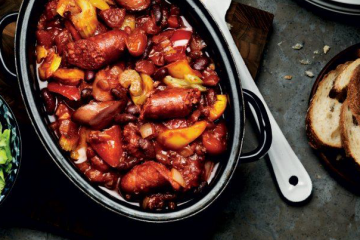 Sausage, Cider and Apple Casserole